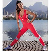 Комбинезон спортивный женский компрессионный для фитнеса, йоги, спорта, бега, зала, фото 1