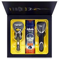 Gillette Fusion ProShield: бритва с технологией flexball + чехол + гель для бритья 2-в-1