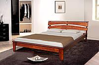 Кровать двуспальная деревянная (массив ольхи)  Торонто 160х200 Микс мебель, цвет темный орех