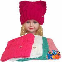 Детская вязаная шапка для девочек р-р 48-50