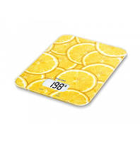 Весы кухонные электронные Beurer KS 19 Lemon стеклянные (до 5 кг)