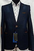 Модельный джинсовый мужской пиджак с контрастной отделкой Palmiro Rossi