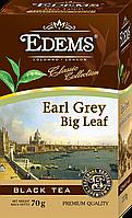 Черный листовой чай «Edems Earl Grey Big Leaf», 70г