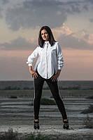 Женская хлопковая блуза с пуговицами на спине (белая) OMNIA