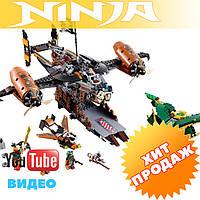 """Конструктор лего ниндзя LEPIN 06028 Ninja (аналог Lego Ninjago 70605) """"Цитадель Несчастья"""" 808 дет"""