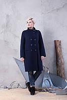 Демисезонное женское пальто прямого кроя из кашемира