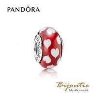 Pandora шарм СЕРДЦА МУРАНО #790948 серебро 925 Пандора оригинал
