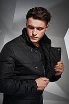 Куртка мужская Button черная, фото 3