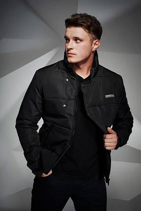 Куртка мужская Button черная, фото 2