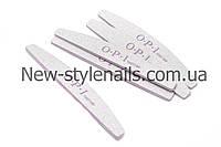 Пилка для ногтей OPI 100/180, полукруг, серая (размер в ассортименте)