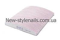 Пилка для ногтей OPI 100/150, полукруг, серая (размер в ассортименте)