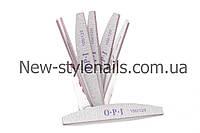 Пилка для ногтей OPI 100/120, полукруг, серая (размер в ассортименте)
