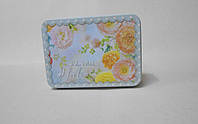 Декоративная металлическая коробка Цветы