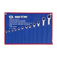 Набор ключей комби с трещоткой 12 ед. (8-24мм) KING TONY