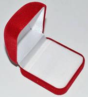 Коробочка для кольца, бархат, красная с белым 28_3_20