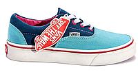 Модные Кеды женские Vans Era (blue/kight blue/pink) - 89w в