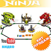 Конструктор лего ниндзя Ninja 9758 (аналог Lego Ninjago) «Змеиная арена» 409 дет