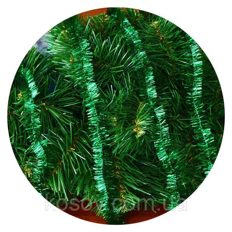 Дождик (мишура) 2,5 см (3м) (зеленый)