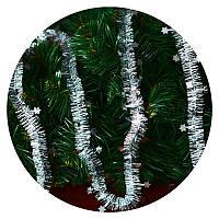 Дождик (мишура) со звездочкой 2,5 см (серебряный/ серебряная звездочка), фото 1