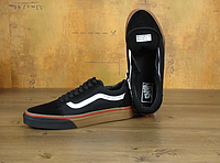 Модные Кеды женские Vans Old Skool (black/beige) - 30w