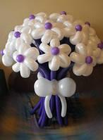 Цветы из воздушных шаров ,Композиция purple