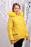 Зимняя  куртка для девочки Марта2 желтая