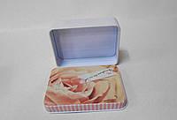 Декоративная металлическая коробка Роза