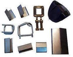 Скріпа сталева, пряжка дротяна, куточок пластиків для поліпропіленової стрічки