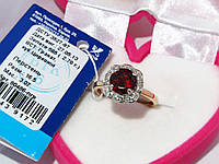 Золотое кольцо с гранатом 80486-ПГР, фото 1