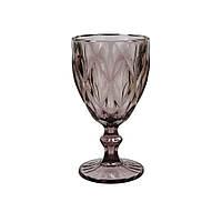 Винтажный бокал розовый 250 мл (праздничные бокалы)