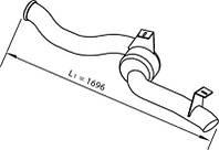 Вихлопна труба DAF XF95/105 1682921