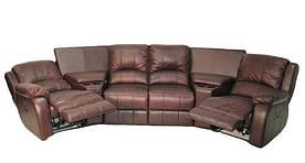 Стильный угловой диван с реклайнером HOLLYWOOD