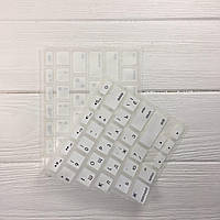 Накладка для клавиатуры MacBook белая