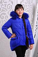 Зимняя  куртка для девочки Марта2 электрик