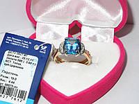 Золотое кольцо с топазом 80075-ПТ, фото 1