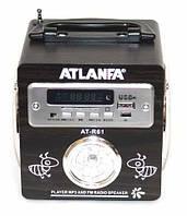 Радиоприемник Atlanfa AT-R61 (220В,USB,SD,FM, диспл., 2-динам.)