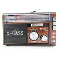 Радиоприемник GOLON RX-381 (220В,USB+SD,аккум., фонарик.)