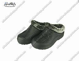 Женские галоши (Код: ГП-17 мех черный)