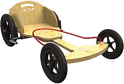 Карт детский Kiddimoto Box Kart фанерный, цвет натуральное дерево (BB)
