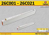 Метр складной пластиковый 1м., белый,  TOPEX  26C001, фото 1