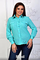 Женская шифоновая блузка Кармашки