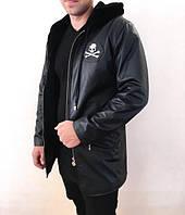 Дубленка мужская Philipp Plein D2045 черная