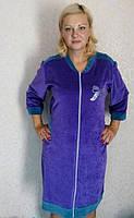 Велюровый халат женский 50-56 , доставка по Украине