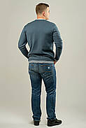 Мужской осенний теплый свитер Гомер, цвет синий / размерный ряд 48,50,52, фото 3