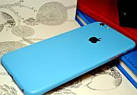 """Виниловая наклейка """"Голубой мат"""" Iphone 6 PLUS / 6S PLUS (0,1 mm)"""