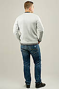 Мужской осенний теплый свитер Гомер, цвет светло серый / размерный ряд 48,50,52, фото 3