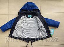 Детская куртка ветровка парка для мальчика 4-5 лет. Демисезонная осень, фото 3