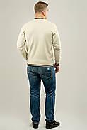 Мужской осенний теплый свитер Гомер, цвет бежевый / размерный ряд 48,50,52, фото 3