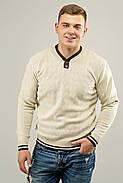 Мужской осенний теплый свитер Гомер, цвет бежевый / размерный ряд 48,50,52, фото 2