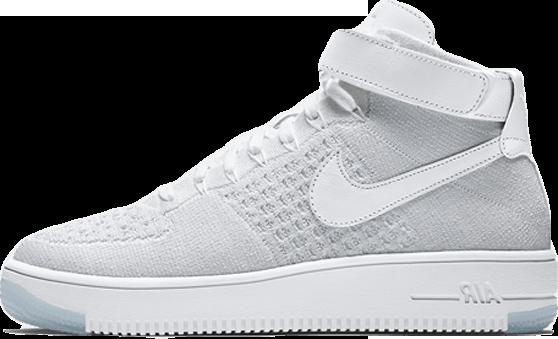 69998689 Женские Кроссовки Nike Flyknit Air Force 1 Ultra White — в Категории ...